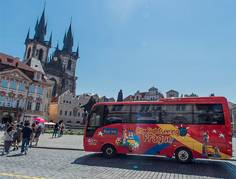 City Sightseeing Prague 48hr Hop on Hop off Bus + Tours