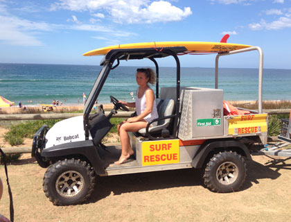 Home and Away Tour to Palm Beach- Surf and Rescuse Beach Buggy