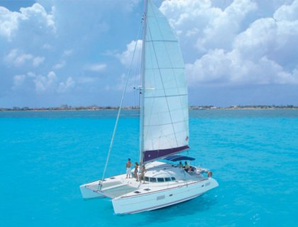 Sail by Catamaran to Isla Mujeres