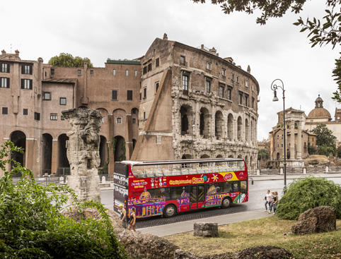 Sightseeing Bus Tour Hop on Hop off Rome