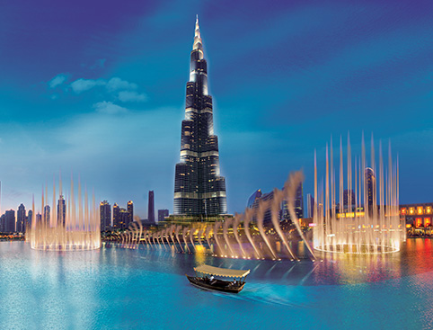 Dubai Fountains Show and Lake Ride