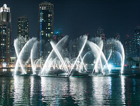 Dubai Fountains Lake Ride