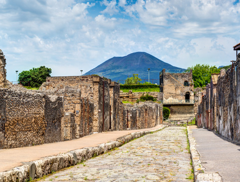 Pompei and Vesuvius From Sorrento