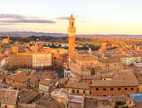 Sunset in Siena & Chianti Dinner