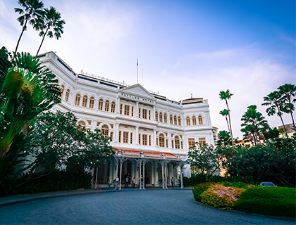 Alfresco Afternoon Tea at Raffles Hotel's Courtyard