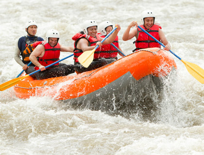 River Rafting - from Side