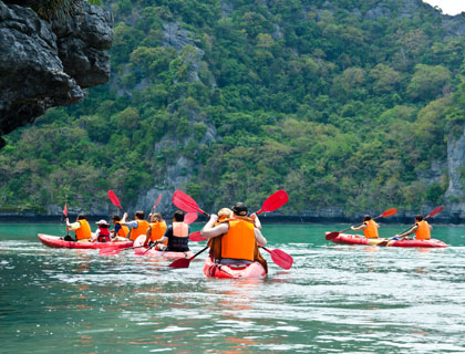 Sea Kayaking at Angthong
