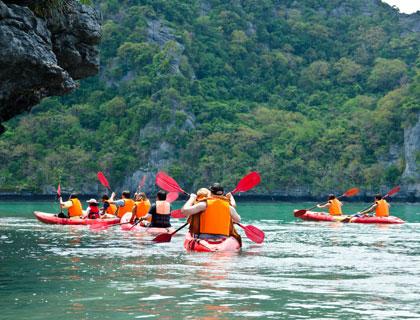 Sea Kayaking at Angthong